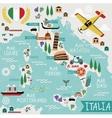Cartoon Map of Italy vector image