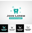 Dental logo template Teeth icon set dentist vector image