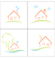 Eco friendly house vector image