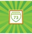Interstate 73 picture icon vector image