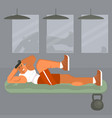 man does the press exercises vector image