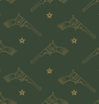 Seamless pattern with revolvers vector image