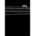 Black white birds composition vector image vector image