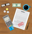 tax paid document vector image