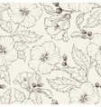 Hibiscuses background vector image vector image