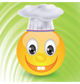 smile in chefs hat vector image