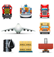 shipping icons | bella series vector image vector image