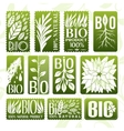 Natural and bio product labels badge and stikers vector image