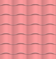 Paper pink seamless wavy pattern vector image vector image