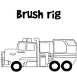 Brush rig with hand draw vector image