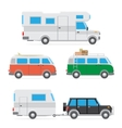 camper car set vector image