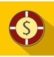 Casino chip icon flat style vector image