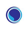 circle leaf logo image vector image