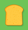 Icon of bread or loaf slice Symbol of toast vector image