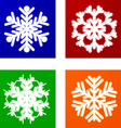 Luminous Snowflakes vector image