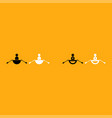 man in a boat it is white icon vector image