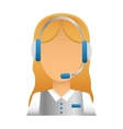 technical support representative icon vector image
