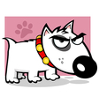 Mean White Bull Terrier Doggy vector image