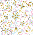 Gold flower decoration seamless pattern design vector image