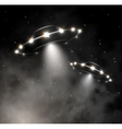 UFO in fog vector image
