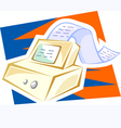 fax machine with paper vector image vector image