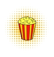 Popcorn comics icon vector image