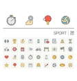 Sport and fitness color icons vector image vector image