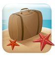 App Travel Icon With Suitcase vector image