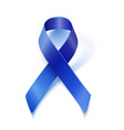 Awareness blue ribbon isolated on white vector image