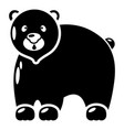 canadian bear icon simple black style vector image