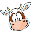 cow head cartoon - vector image