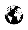 earth icon flat design vector image
