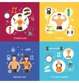 Fitness Club Healthy Life Concept vector image