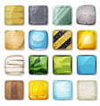 icons and buttons set for mobile app and game ui vector image