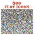 Set of 800 flat icons for web internet mobile vector image