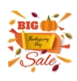 Big Thanksgiving Day sale abstract banner vector image