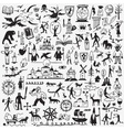 History  fairy tale doodles vector image