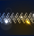 glowing neon abstract waveform background vector image