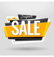 sale geometric banner vector image vector image