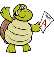 turtle with a mark cartoon vector image vector image