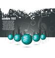 musical theme with disco balls vector image