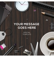 Blog template background vector image