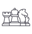 chess horse rook pawn queen linear icon sign vector image