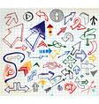 doodle arrows elements vector image