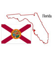 florida state map and flag vector image