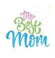 greeting card for the best mother vector image