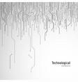 hi-tech circuit board technological background vector image