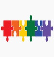 lgbt puzzle1 vector image