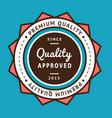 retro vintage badge vector image