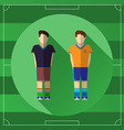 Two Soccer Players icon vector image